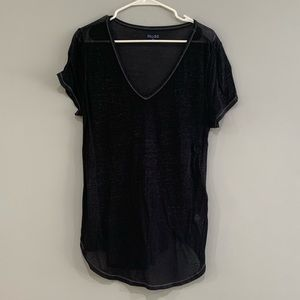 Basic Navy V Neck Tee